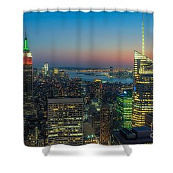 Top Of The Rock Twilight I Shower Curtain