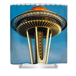 Top Of The Space Needle Shower Curtain by Inge Johnsson