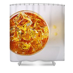 Top View On Drink Shower Curtain by Carlos Caetano