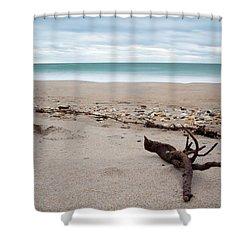 Topsail Island Driftwood Shower Curtain
