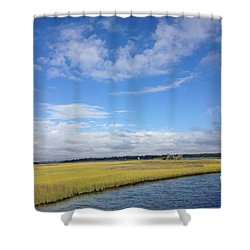 Topsail Island Icw Shower Curtain