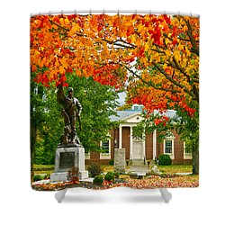 Shower Curtain featuring the photograph Topsfield by Mitch Cat
