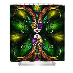 Topsy Turvy Shower Curtain by Mandie Manzano