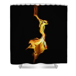 Torch In The Wind Shower Curtain