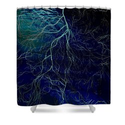 Tormented Sea Shower Curtain by Amanda Eberly-Kudamik
