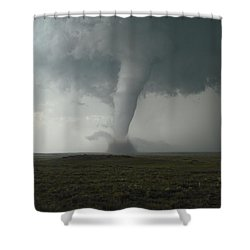Tornado In The High Plains Shower Curtain by Ed Sweeney