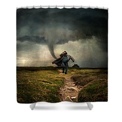 Tornado Shower Curtain by Jaroslaw Blaminsky