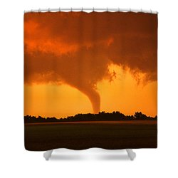 Tornado Sunset Shower Curtain by Jason Politte