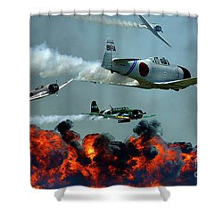 Toro Toro Toro Shower Curtain by Bob Christopher