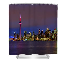 Toronto By Night... Shower Curtain