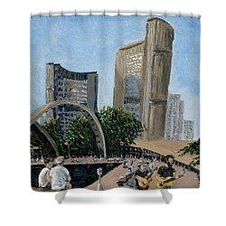 Toronto City Hall Shower Curtain