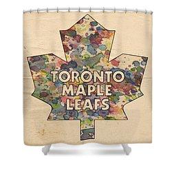 Toronto Maple Leafs Hockey Poster Shower Curtain by Florian Rodarte