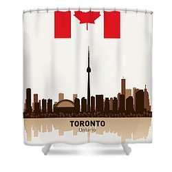 Toronto Ontario Canada Shower Curtain by Daniel Hagerman