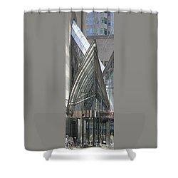 Toronto Silhouettes Iv Shower Curtain by Ben and Raisa Gertsberg