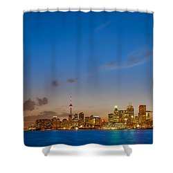 Toronto Skyline Shower Curtain by Sebastian Musial