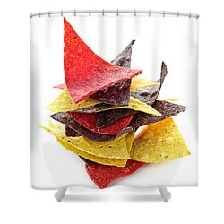 Tortilla Chips Shower Curtain by Elena Elisseeva