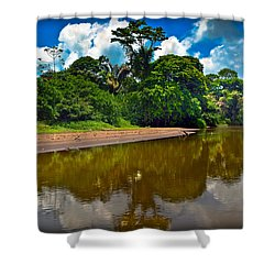 Tortuguero River Canals Shower Curtain by Gary Keesler