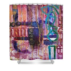 Tortured Links Shower Curtain by Jason Williamson