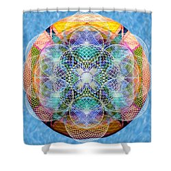 Torusphere Synthesis Cell Firing Soulin IIi Shower Curtain by Christopher Pringer