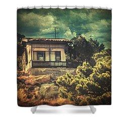 Total Recall Shower Curtain by Taylan Apukovska