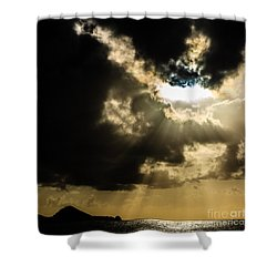 Total Solar Eclipse Breakthrough Shower Curtain