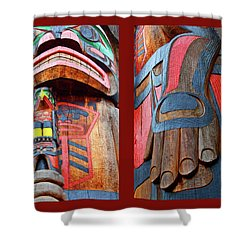 Totem 2 Shower Curtain by Theresa Tahara