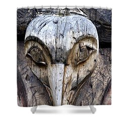 Totem Face Shower Curtain by Cathy Mahnke