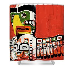 Totem Pole 02 Shower Curtain by Catf