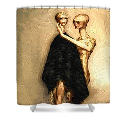 Touch Shower Curtain by Bob Orsillo