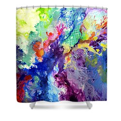 Touch Me Here Shower Curtain by Sally Trace