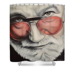 Shower Curtain featuring the painting Touch Of Grey by Darren Robinson