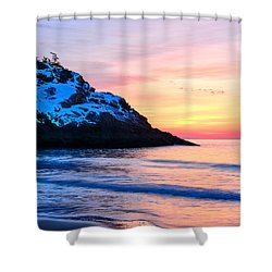 Touch Of Snow Singing Beach Shower Curtain