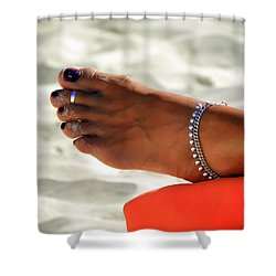Touch Of Sun Shower Curtain by Karen Wiles