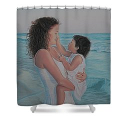 Touched By An Angel Shower Curtain by Holly Kallie