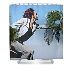Touching The Canopy.  Shower Curtain by Menachem Ganon