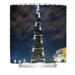 Touching The Sky Shower Curtain by Syed Aqueel