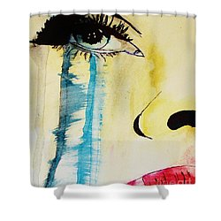 Shower Curtain featuring the painting Tougher Than You Think 2 by Michael Cross