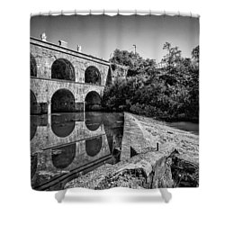 Tounj Bridge Shower Curtain by Davorin Mance