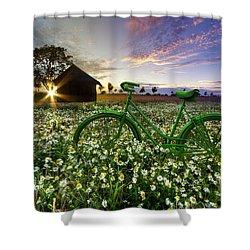 Tour De France Shower Curtain by Debra and Dave Vanderlaan