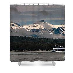 Touring Alaska Shower Curtain by Robert Bales