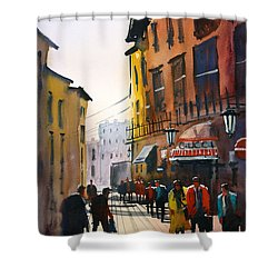 Tourists In Italy Shower Curtain by Ryan Radke