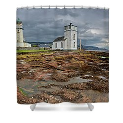 Toward Lighthouse  Shower Curtain by Gary Eason