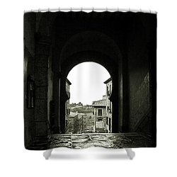 Towards Freedom Shower Curtain by Syed Aqueel