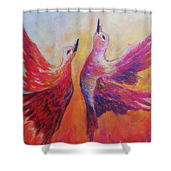 Towards Heaven Shower Curtain