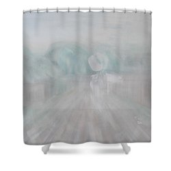 Towards The New Year Shower Curtain