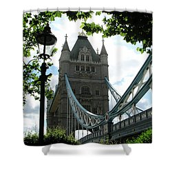 Tower Bridge Shower Curtain by Bev Conover