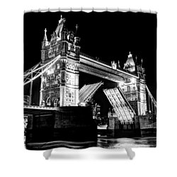 Tower Bridge Opening Shower Curtain
