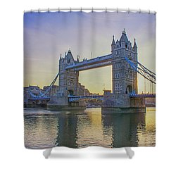 Tower Bridge Sunrise Shower Curtain
