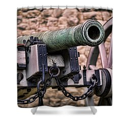 Tower Canon Shower Curtain by Heather Applegate