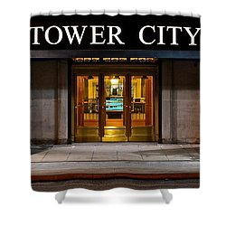 Tower City Cleveland Ohio Shower Curtain by Frozen in Time Fine Art Photography